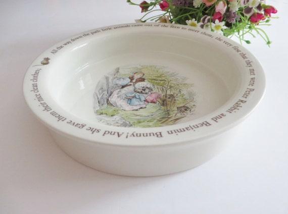 Beatrix Potter 1990's vintage Mrs Tiggy Winkle porringer