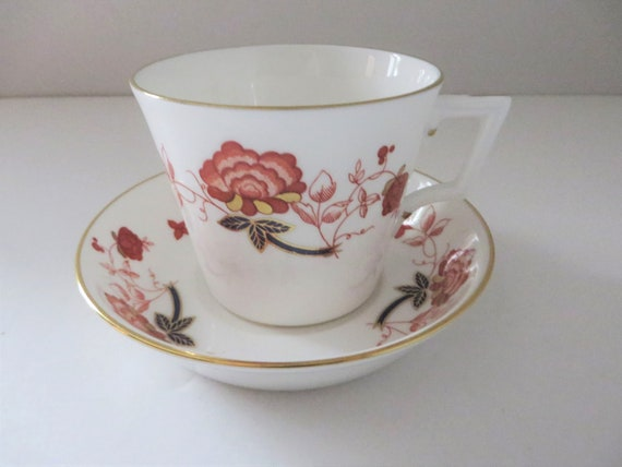 Crown Derby Bali 1980's teacup and saucer
