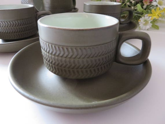 Denby Vintage 1960's Chevron coffee cup and saucer