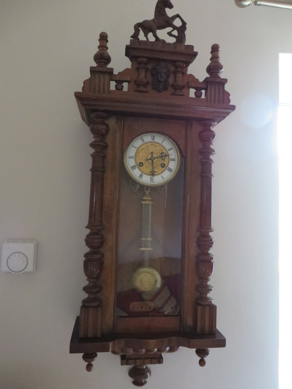 Antique 1800's Junghans German Wall Clock