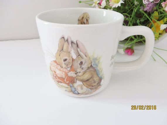 Beatrix Potter vintage 1980's  Benjamin Bunny mug