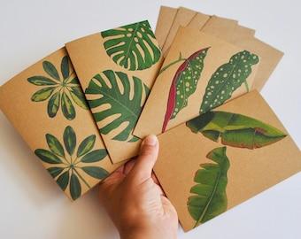 Botanical Kraft greeting cards pack