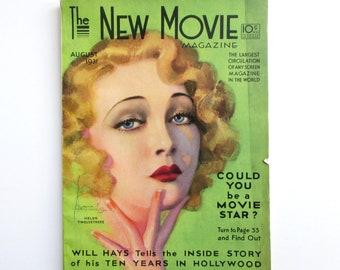The New Movie Magazine, August, 1931. James Cagney, Gary Cooper, Ramon Novarro, Will Hays, Tallulah Bankhead, Hoot Gibson, Clark Gable, ++
