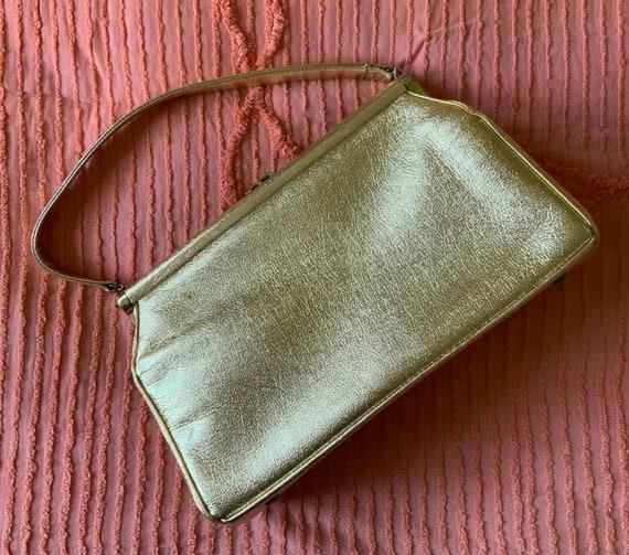 Vintage Large Gold Tone Handbag  By Julius Resnick
