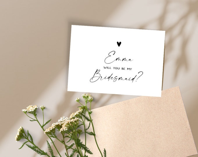 Featured listing image: Personalised Bridesmaid Proposal Card