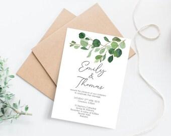 Botanical Wedding Invitations x 55