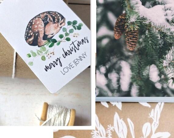 Woodland Animal Christmas Gift Tags