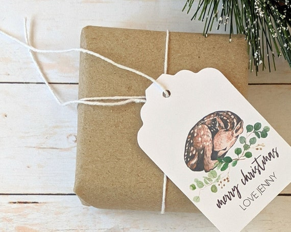 Woodland Animal Christmas Gift Tags