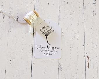 Simple Botanical Wedding Thank you Favour Tags (50)