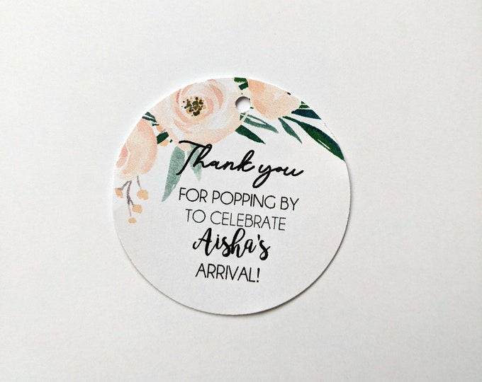Boho Floral Thank you for popping by Baby Shower Favour Tags (24)