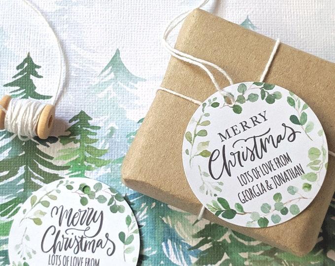 Eucalyptus Wreath Christmas Gift Tags