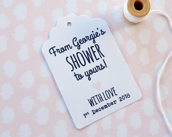 Personalised From My Shower to Yours Favour Tags (20)