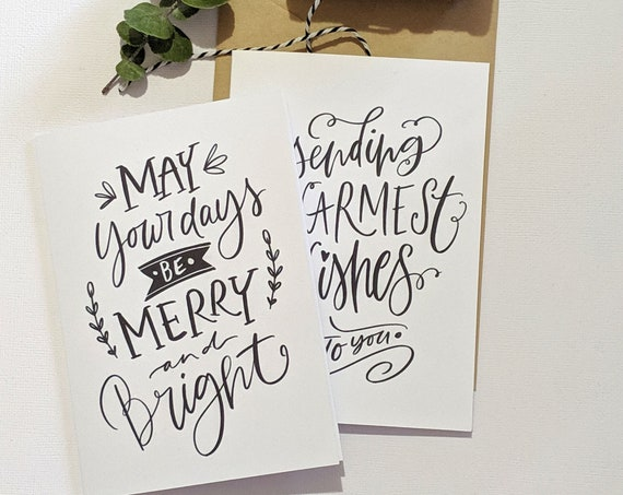 Merry Christmas Cards - (Set of 4)