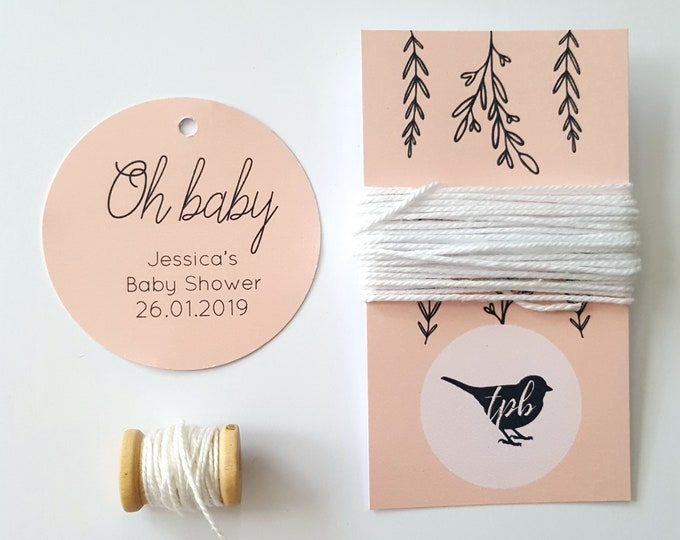 Oh Baby Shower Favour Tags (20)