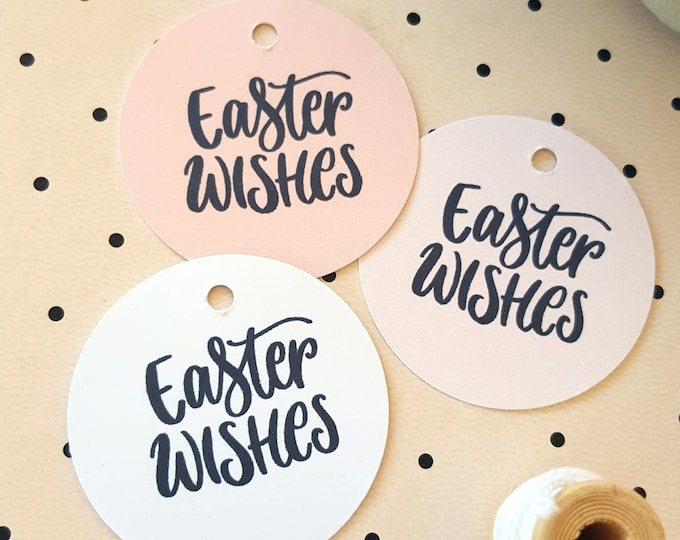 Cute Mini Easter Wishes Gift Tags