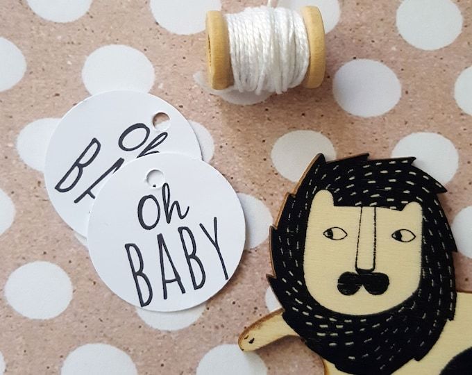 Oh Baby Shower Favour Tags