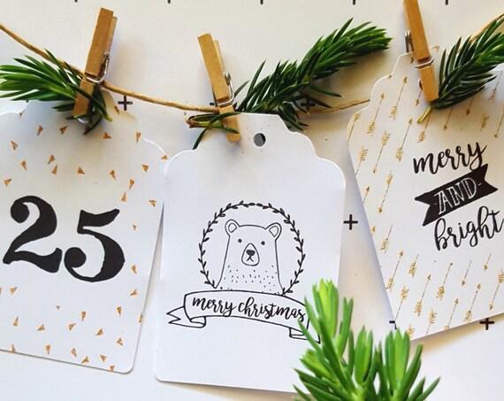 Modern Merry Christmas Gift Tags