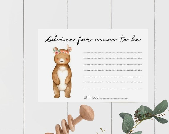 Tribal Bear Advice for Mum to Be cards (20)
