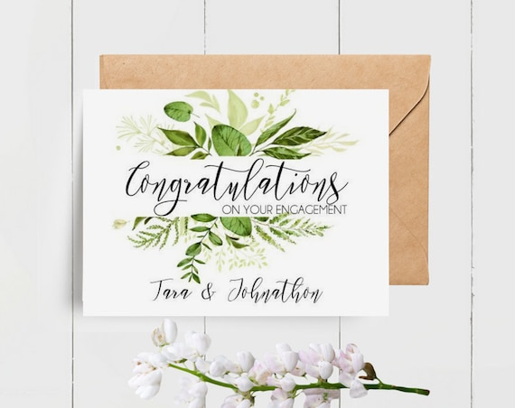 Custom Congratulations on your Engagement card