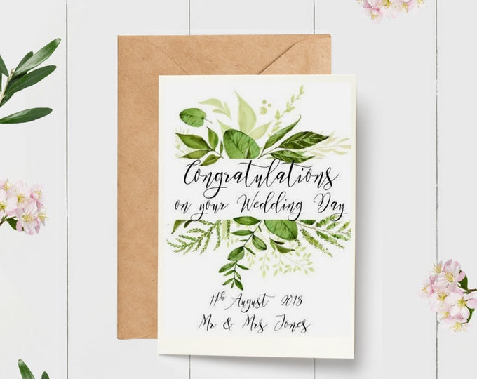 Botanical Congratulations on your Wedding Day Card