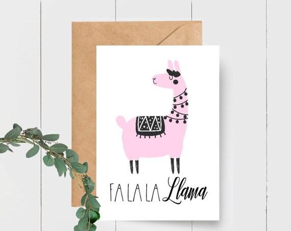 Fa La La Llama Christmas Card