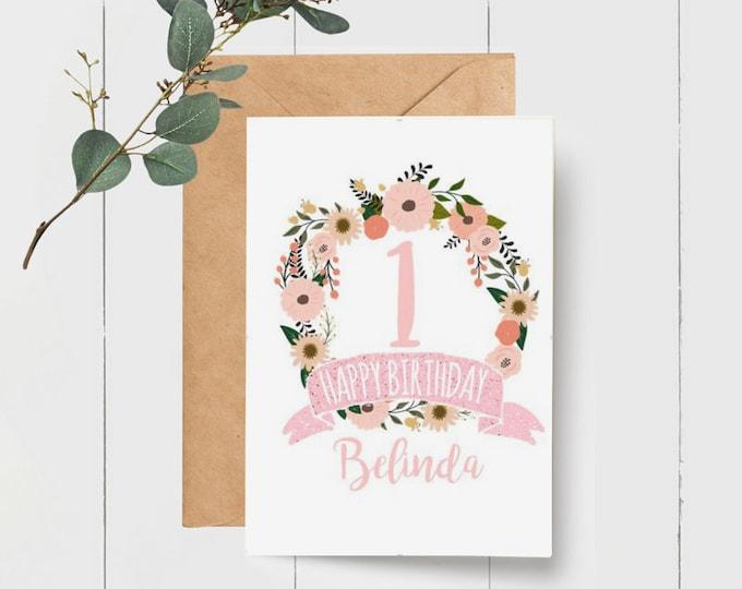 Personalised Kids Happy Birthday Card