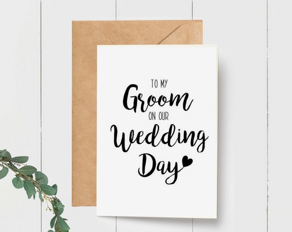 To my Groom on our Wedding Day card | To my Wife on our Wedding Day Card | Wedding Card | Card for Groom from Bride