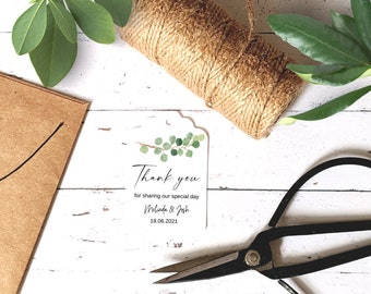 Personalised Botanical Wedding Favour Tags (45)