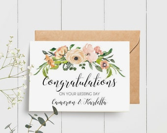 Floral Congratulations on your Wedding Day Card