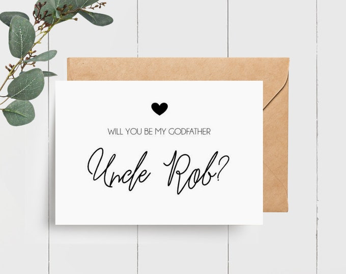Personalised Godfather Proposal Card