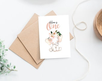 Baby's 1st Birthday Card for Girl