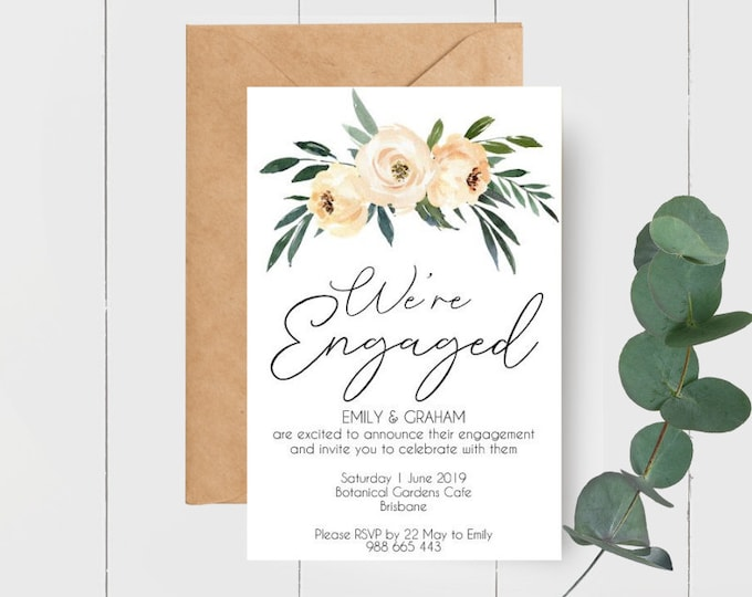 Floral We're Engaged Invitations (25)