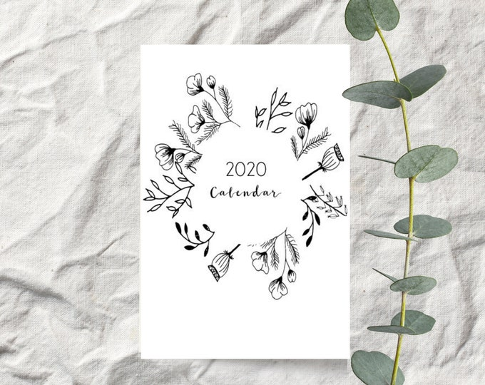 Rustic Farmhouse 2020 Desk Calendar Cards