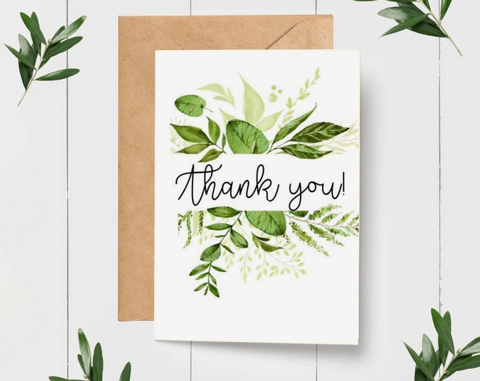 Botanical Wedding Thank you Card