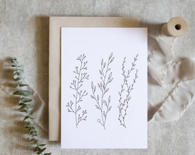 Botanical Stationery Note Card Set