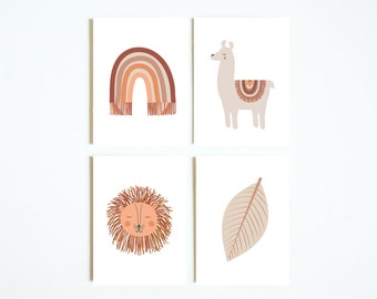 Boho Baby Set of 4 mini art prints
