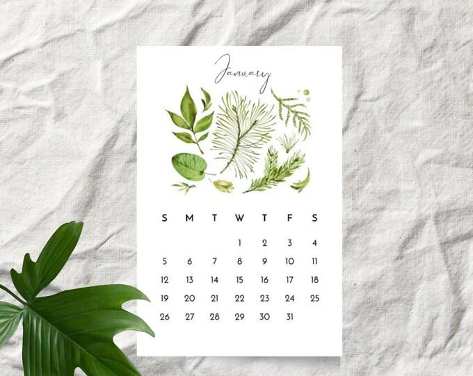 Woodland Leaves 2020 Desk Calendar Cards