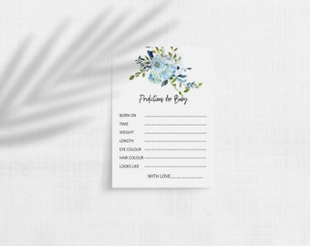 Blue Floral Predictions for Baby cards