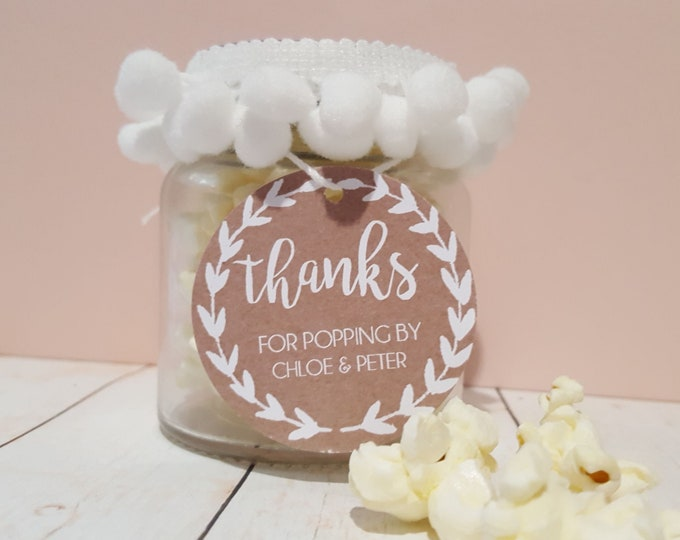 Thanks for Popping By Wedding Favour Tags (20)
