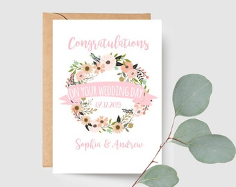 Custom Wedding Day Card