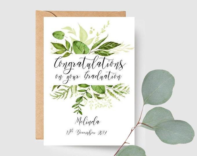 Custom Botanical Congratulations on your Graduation Card