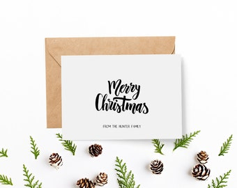 Pack of 8 Personalised Christmas Cards