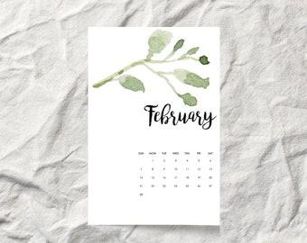 Botanical Leaves 2021 Desk Calendar Cards
