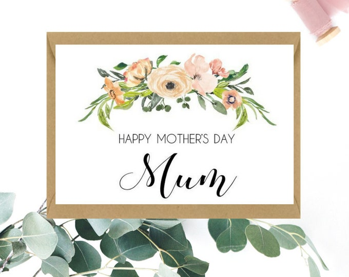 Floral Happy Mother's Day Mum Card