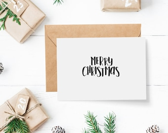 Pack of Modern Christmas Cards - set of 8