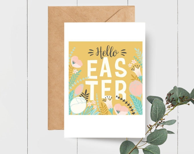 Hello Easter Greeting Card