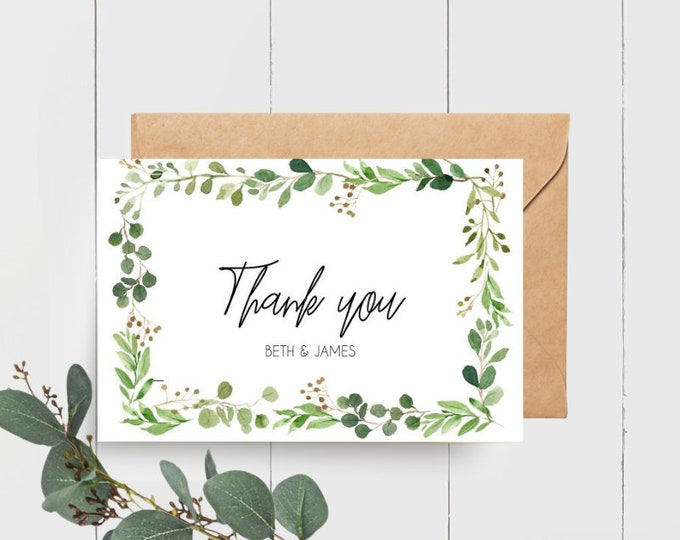 Botanical Wedding Thank you Cards