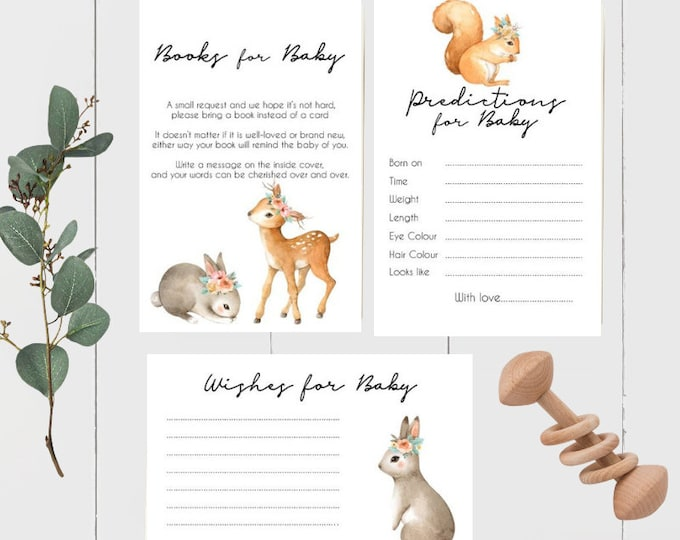Woodland Animal Baby Shower Bundle
