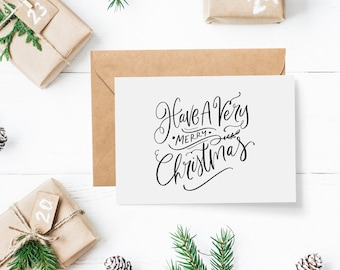 Christmas Card Park - Set of 4 Cards | Have a Very Merry Christmas