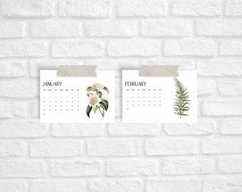 Botanical Vintage 2021 Desk Calendar Cards